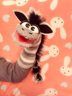 Items similar to Zebra sock puppet on Etsy Christmas Crafts To Sell Bazaars, Christmas Crafts To Make And Sell, Sock Puppets, Hand Puppets, Puppets For Kids, Puppet Patterns, Sock Crafts, Sock Toys, Puppet Making