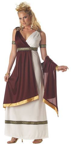 Roman Empress Costume for Women | Roman Empress Halloween Costume might do something like this and reuse my prom dress