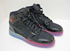 Nike Air Jordan 1 Retro Hi Premium GG Black-Fuschia 705296 SZ 6.5Y Basketball #Jordan #BasketballShoes