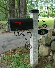 decorative mailbox post bing images - Decorative Mailboxes