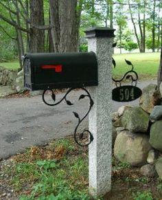 decorative mailbox post - Bing Images