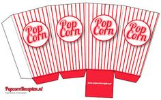 Een leuk idee voor een kinder feestje of om gewoon meer in de film stemming te … A nice idea for a children's party or just to get more into the movie mood. Nice popcorn box to print and assemble yourself … Box Template Printable, Paper Box Template, Free Printable, Paper Toys, Paper Crafts, Carnival Themed Party, Barbie Miniatures, Miniature Crafts, Diy Box