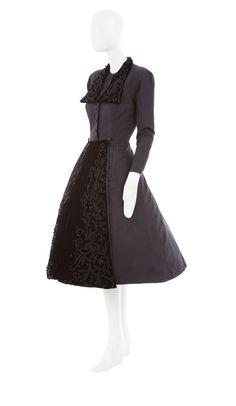 A Dior Haute Couture dress coat, autumn winter 1948