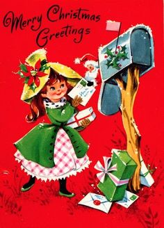 62 best a mail christmas art images on pinterest vintage christmas vintage christmas images and vintage holiday - Mailing Christmas Cards
