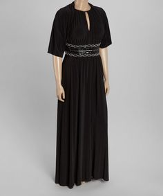 ff9089098ee Look what I found on  zulily! Black Empire Waist Gown  amp  Bolero -