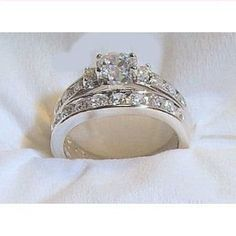 14k White Gold .925 Engagement Wedding Ring Set: http://www.amazon.com/White-Gold-925-Engagement-Wedding/dp/B006GJAV12/?tag=autnew-20