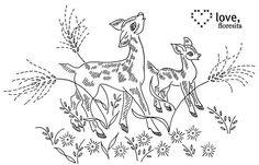 sweet deer by floresita's transfers, via Flickr