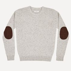 Flecked Donegal Wool Crew in Oatmeal | Frank & Oak