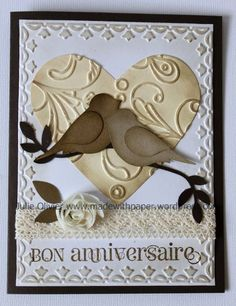 even though this says it's an anniversary card, I think it would also make a lovely Valentine!