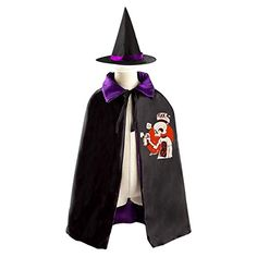 [Halloween Batman Makeup] A cruel boy Kids Hallowmas clothing Skeleton boy Graffiti Black Cloak and Cape with Hood *** You can get more details by clicking on the image. (This is an affiliate link) #HalloweenBatmanMakeup