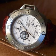 The limited edition Helfer Gentleman's Club timepiece. Swiss made, sapphire crystal, brass and leather strap. Only 110 pieces worldwide. Register your interest at helferwatches.com.au - Link in bio. #helferwatchesaus #luxurywatch