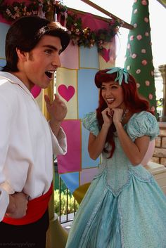 Prince Eric and Ariel so cute!