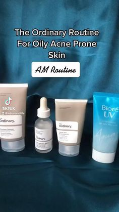 If you have oily skin that is also prone to acne, here is The Ordinary Skincare Routine for you. Skincare For Oily Skin, Tips For Oily Skin, Oily Skin Care, Face Skin Care, Acne Prone Skin, Skin Care Tips, Basic Skin Care Routine, Skin Routine, The Ordinary Oily Skin