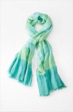 airy stripes scarf