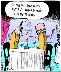 Linda Maran - Freelance Writer: Writing Humor of the Day Debbie Macomber, Funny Quotes, Funny Memes, Hilarious, It's Funny, Memes Humor, Funny Gifs, Cat Memes, Image Meme