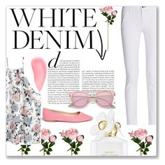 """""""•WHITE WITH A SPLASH OF PINK•"""" by sabahhhh ❤ liked on Polyvore featuring Marc Jacobs, rag & bone, Sam Edelman and Kevyn Aucoin"""