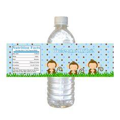@Antonette Graziano ..Printable Personalized Monkey Jungle Safari Water by pinkthecat, $8.00