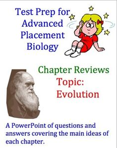 Advanced Placement (AP) Biology Review PowerPoint: Evolution