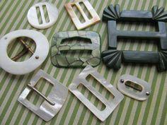Vintage belt buckle assortment