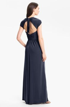 Amsale dress with pretty cut-out back detail