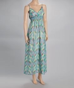 Take a look at this Turquoise & Green Maxi Dress by Shes Cool on #zulily today!