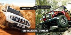 Renault Duster Vs Mahindra Thar - Off-roaders' Combat Mahindra Thar, Off Roaders, Compare Cars, Car Buying Tips, Driving Tips, Used Cars, Outdoor Power Equipment, Monster Trucks, Garden Tools