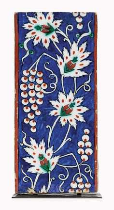 An Iznik pottery border tile. Ottoman Turkey, circa 1590. 3 78 x 8 14 in. (9.9 x 21 cm.). Estimate. £4,000-6,000. This piece is offered in Art of the Islamic & Indian Worlds on 21 April at Christie's in London