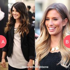Dark or light ombre hair? Get wishbone on the App Store now!