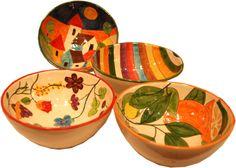 ceramica utilitaria - Buscar con Google Ceramic Pottery, Pottery Art, Paper Mache, Bright Colors, Serving Bowls, Decorative Bowls, Clay, Tableware, Crafts
