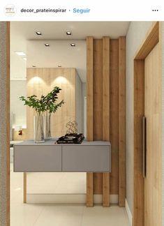 Apartamento praticidade – Tv Units Welcome Home Main Door Design, Foyer Design, Front Door Design, Condo Design, House Design, Hall Interior, Interior Design, House Architecture Styles, Tv Unit Furniture