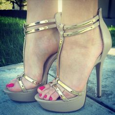 Double T-Time Strappy Platforms