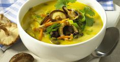 The best Turkey And Shiitake Mushroom Soup recipe you will ever find. Welcome to RecipesPlus, your premier destination for delicious and dreamy food inspiration. Shiitake Mushroom Soup, Mushroom Soup Recipes, Ground Coriander, Fresh Coriander, Best Turkey, Stuffed Mushrooms, Stuffed Peppers, Turkey Breast, Food Inspiration