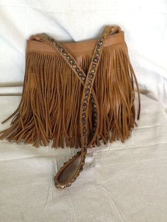 Fringed leather purse made by Two Bar West by GlenFloraEmporium, $120.00