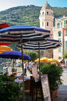 Restaurants in Vernazza near Harbor - we had coffee along here.