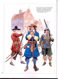 Soldiers of New Sweden and New Netherlands, Century Sweden History, Army Costume, Warhammer Fantasy Roleplay, Swedish Army, Thirty Years' War, Military Drawings, Renaissance, American Revolutionary War, Colonial America