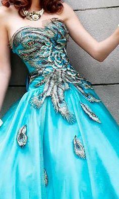 Beautiful paris theme prom dress