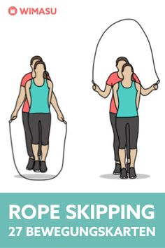 Rope Skipping Movement Cards Source by wimasu Insanity Workout, Best Cardio Workout, Yoga Fitness, Upper Back Exercises, Best Chest Workout, Pula, Skipping Rope, Health Lessons, Injury Prevention