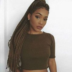 Light Brown Box Braids