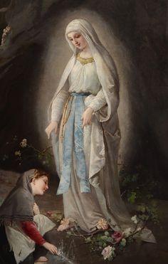 Domenico Tojetti - At Sacred Spring (1877)
