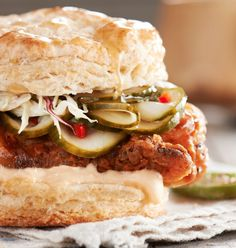 BurkleHagen Photograph. The pickles look amazing, as does the rest of the food. The biscuit is really good looking as well!