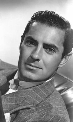 They just don't make them like this any longer.  Tyrone Power, c. 1948.                                                                                                                                                                                                                                                                                                                                                                                                                                     ...