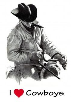 Pencil Drawing Of Cowboy In Saddle, Holding Reins Royalty Free Stock Photo, Pictures, Images And Stock Photography. Image 10880277.