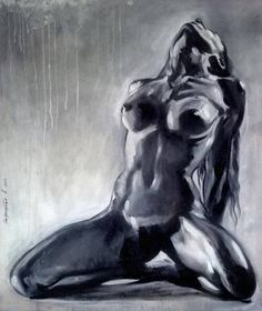 3cbce78449 Sexual Chest art gift Nude oil painting Christmas gift Female woman naked  body Gift for him Erotic bedroom black and white romantic wall art