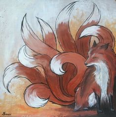 nine tailed fox tattoo art | Nine Tailed Fox by Saraais.deviantart.com on @deviantART