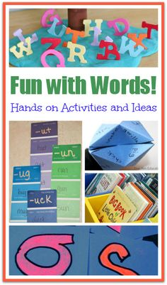 Fun with Words: learn to read with hands on activities and other ideas!