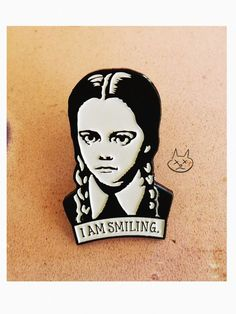 Wednesday Addams Enamel Pin / Ships Nov by ShopNetty on Etsy Dark Romance, Jacket Pins, Cool Pins, Pin And Patches, Spirit Halloween, Stickers, Up Girl, Pin Badges, Lapel Pins