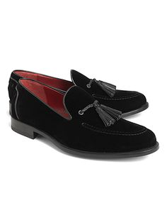 Brooks Brothers Men's Harrys of London Velvet Tassel Loafers
