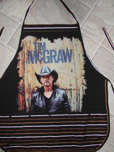 Tim McGraw Apron or Adult Bib by funfoodsaprons on Etsy