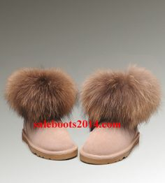 UGG Fox Fur Mini 5854 Sand