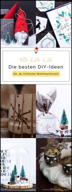 Die schönsten DIY-Ideen für Weihnachten, Bastelanleitungen zum Nachmachen, kreative Weihnachts-Deko und Geschenkideen. Selbermachen war noch nie so einfach! #weihnachten